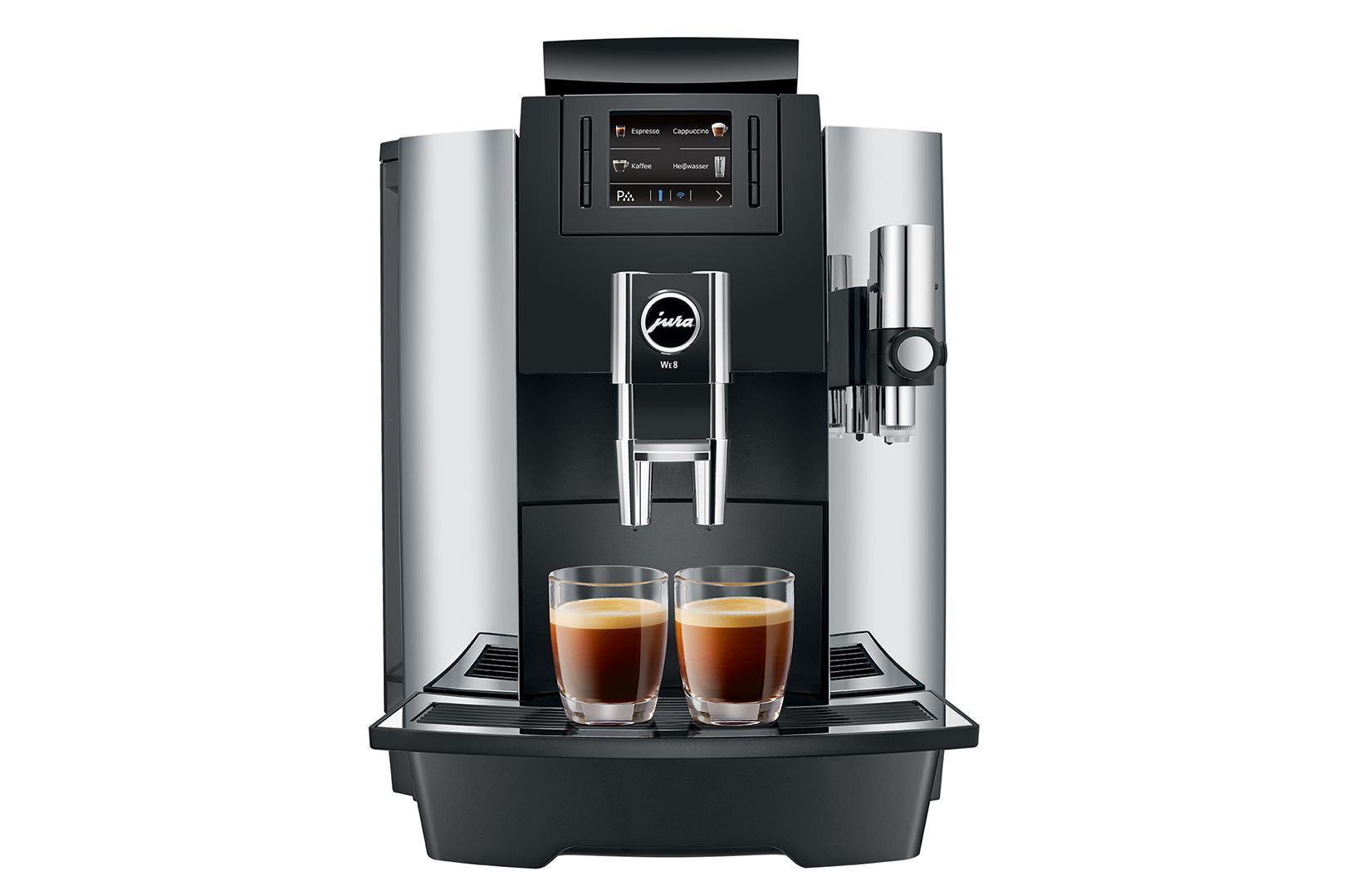 Automatický kávovar Jura WE8 pro přípravu mléčných specialit (caffe latté, cappuccino, ..)